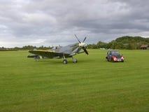 Spitfire Supermarine с солнцем на ем стоковые изображения rf