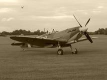 Spitfire Supermarine с солнцем на ем стоковое изображение rf