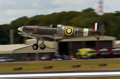 Spitfire transportado por via aérea de Camoflage Foto de Stock Royalty Free