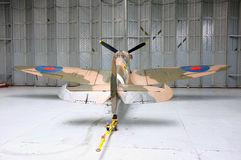 Spitfire in the workshop Royalty Free Stock Images