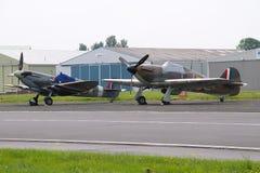 Spitfire WW2 и ураган Стоковая Фотография