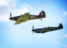 Spitfires летания WW2 Стоковые Изображения