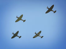 Spitfires WW2 в среднем воздухе Стоковые Фотографии RF