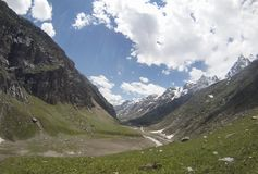 Spiti谷,喜马拉雅山 免版税库存图片