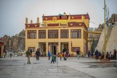 Spiti, Himachal Pradesh, Inde - 24 mars 2019 : Photo de monast?re de Dhankar photos stock
