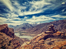 Spiti valley in Himalayas Royalty Free Stock Photo