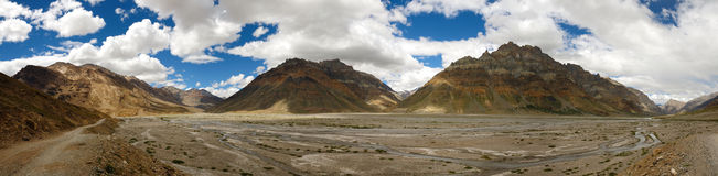 Spiti valley panorama Stock Photo