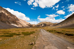 Spiti valley road and landscape Stock Photography