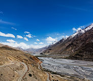 Spiti Valley view from above Stock Images