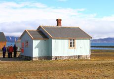 Spitsbergen: Πιό βορειότατο ταχυδρομείο της Ευρώπης ` s στοκ φωτογραφία