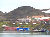 Spitsbergen: Barentsburg  - a mining settlement Royalty Free Stock Images