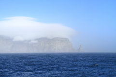Spitsbergen/Bear Island: Cloud-Covered Cape Royalty Free Stock Photo