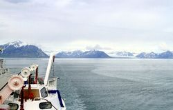 Spitsbergen: Cruise towards Longyearbyen Stock Images