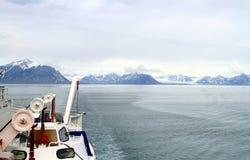 Spitsbergen: Cruising Towards Longyearbyen Stock Images