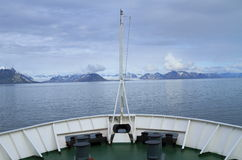 Spitsbergen: Cruising in arctic waters Royalty Free Stock Photo