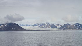 Spitsbergen: Far away glacier landscape Royalty Free Stock Images