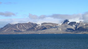 Spitsbergen/King´s Fjord: Mountain Range In Summer Royalty Free Stock Photo