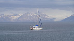Spitsbergen: Sailing in arctic waters Royalty Free Stock Photo
