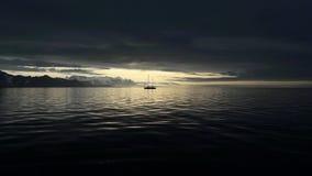 Spitsbergen segling Arkivfoto