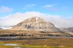 Spitsbergen: Sommarlandskap i Ny-Ålesund Royaltyfria Bilder