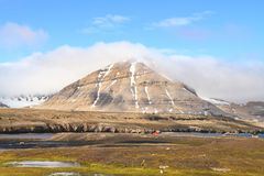 Spitsbergen: Summer Landscape in Ny-Ålesund Royalty Free Stock Images