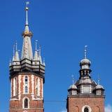 Spitsen van St Mary Church Royalty-vrije Stock Afbeelding