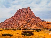 Spitskoppe山在纳米比亚 免版税图库摄影