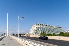 Spitsuur in het Centrum Van de binnenstad van Valencia City Stock Foto