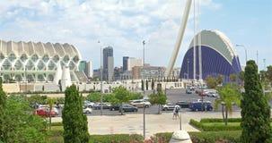 Spitsuur in het Centrum Van de binnenstad van Valencia City stock footage