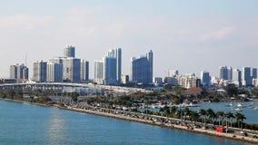 Spitsuur in Miami de stad in, Florida stock video