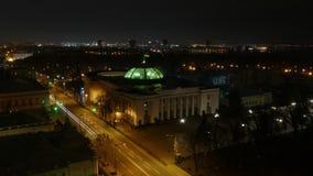 Spitsuur in nacht van stad stock footage