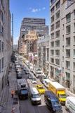 Spitsuur op het Westen zesentwintigste Straat in de Stad van New York Stock Fotografie