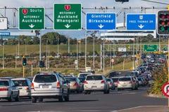Spitsuuropstopping op de autosnelweg van Auckland royalty-vrije stock afbeelding