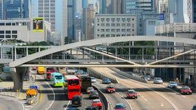 Spitsuurverkeer in admiraliteit, Hongkong Stock Foto