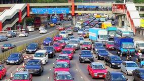 Spitsuurverkeer in Hongkong stock video