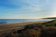 Spittal beach in mid winter. Spittal beach  sea,waves,sand, in mid winter Royalty Free Stock Image