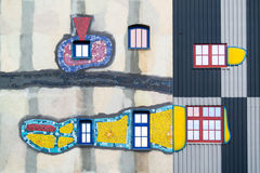 Spittelau植物细节Hundertwasser,维也纳 免版税库存图片
