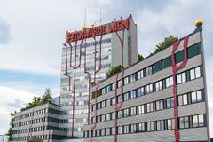 Spittelau植物Hundertwasser在维也纳 图库摄影