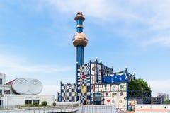 Spittelau roślina Hundertwasser w Wiedeń Fotografia Royalty Free