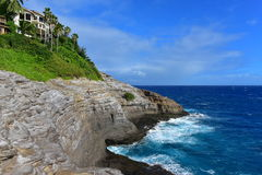 Spitting Cave of Portlock. In Oahu, Hawaii Royalty Free Stock Photo