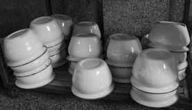 Spittoon on the cabinet Royalty Free Stock Images