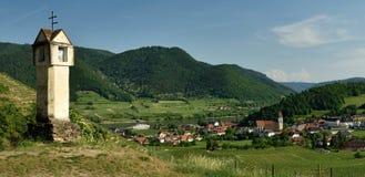 Spitz an der Donau, Wachau, Austria. Spitz an der Donau town in vineyard`s region Wachau - Austria Stock Photography