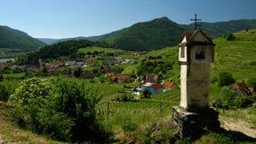 Spitz en der Donau, Wachau, Österrike arkivbilder