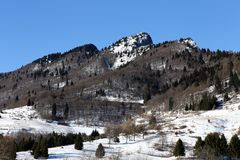 Spitz Mount Snow during a sunny day Stock Image