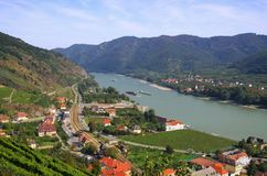 Spitz in Wachau. Austria and Danube river Royalty Free Stock Images