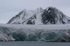 spitzbergen ледника esmark стоковое изображение