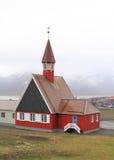 Spitzbergen: Die nördlichste Kirche der Welt Lizenzfreies Stockbild