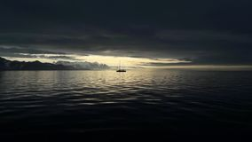 Spitzbergen-Segeln Stockfoto