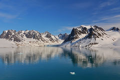 Spitzbergen Svalbard Island. Magdalena Fjords Royalty Free Stock Images
