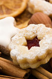 Spitzbuben and Zimtstern. Christmas cookies Stock Photos